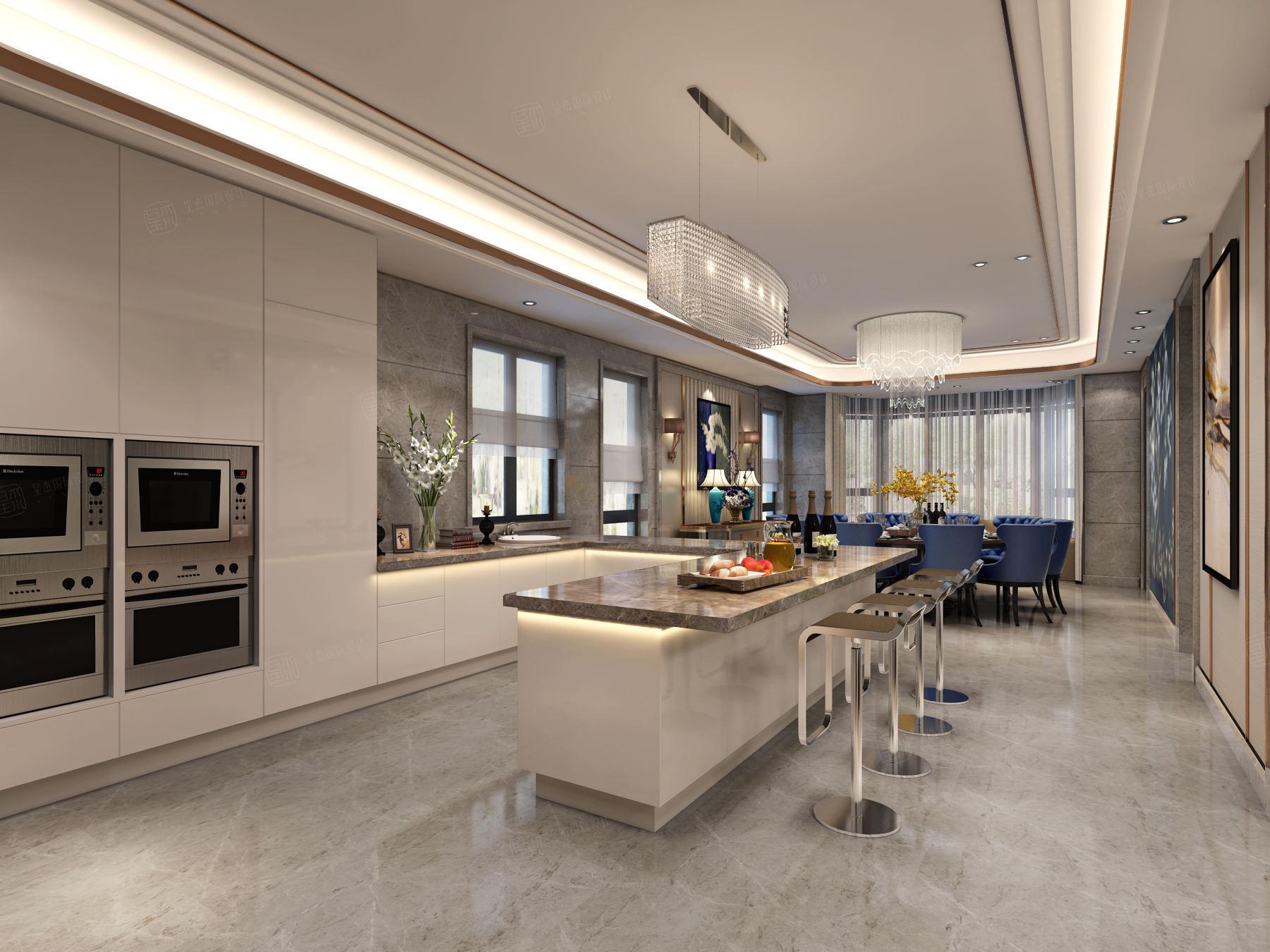御翠园 现代风格装修厨房效果图
