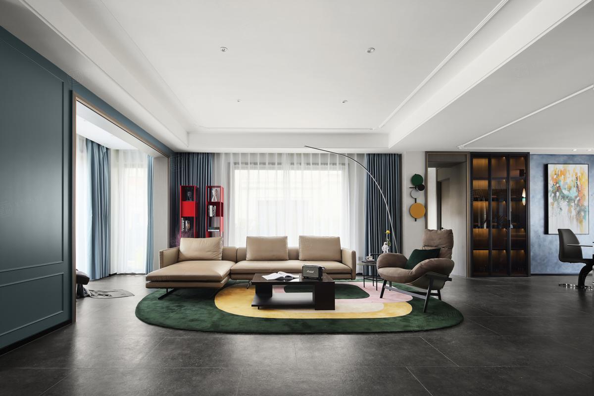 绿地晶萃___现代法式装修客厅效果图
