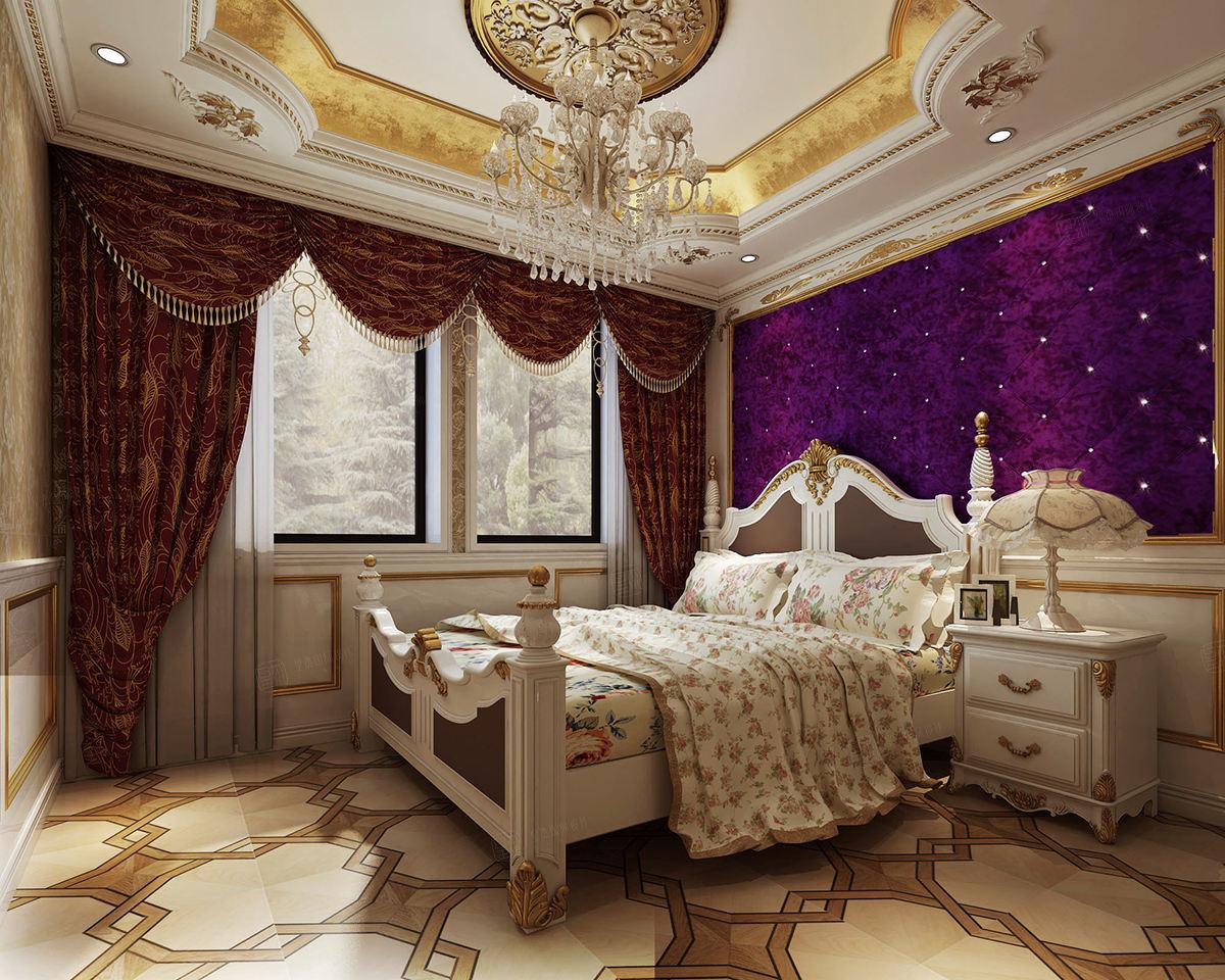 保利叶上海 欧式装修卧室效果图