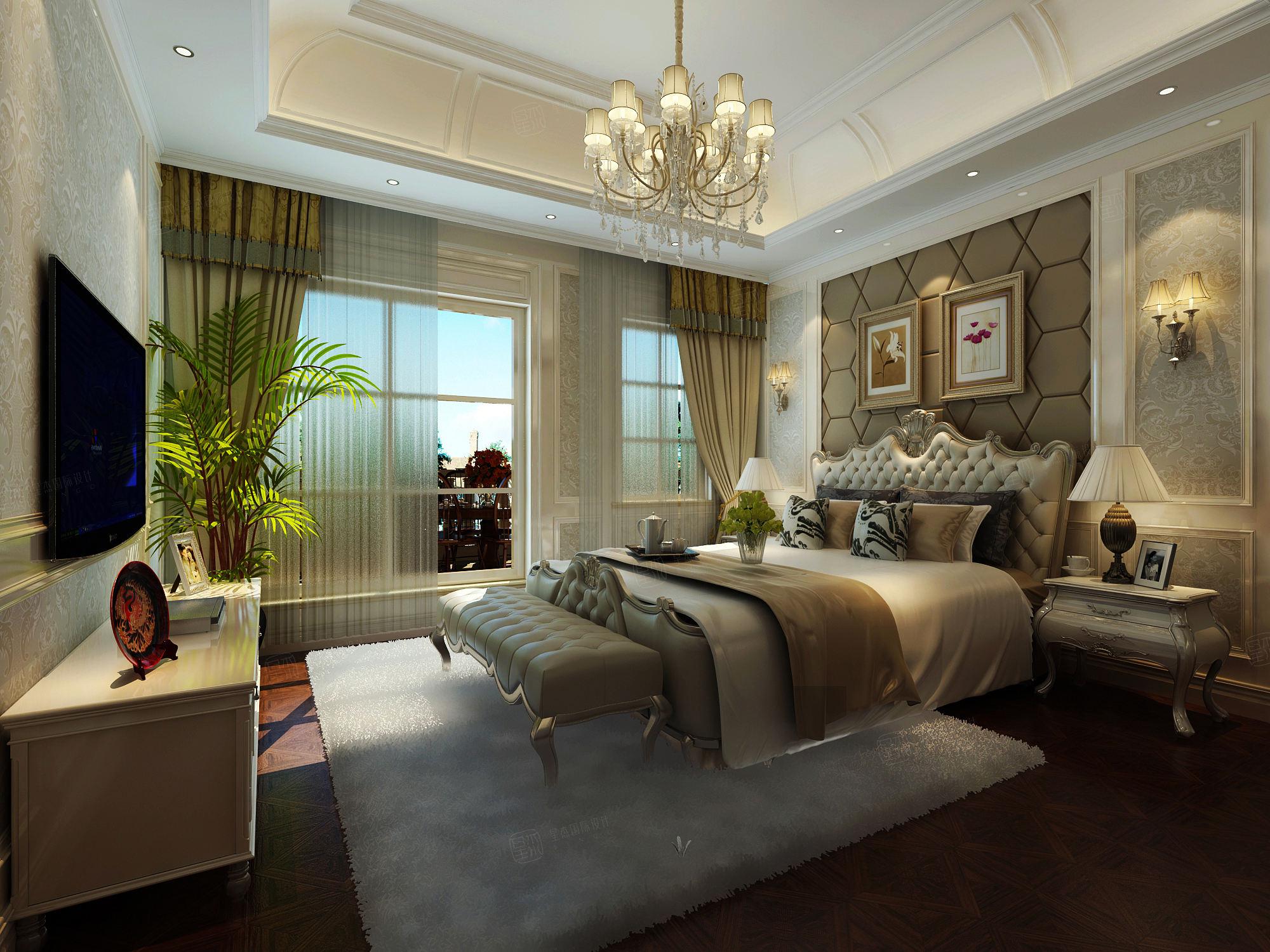 金鳌山 欧式装修卧室效果图