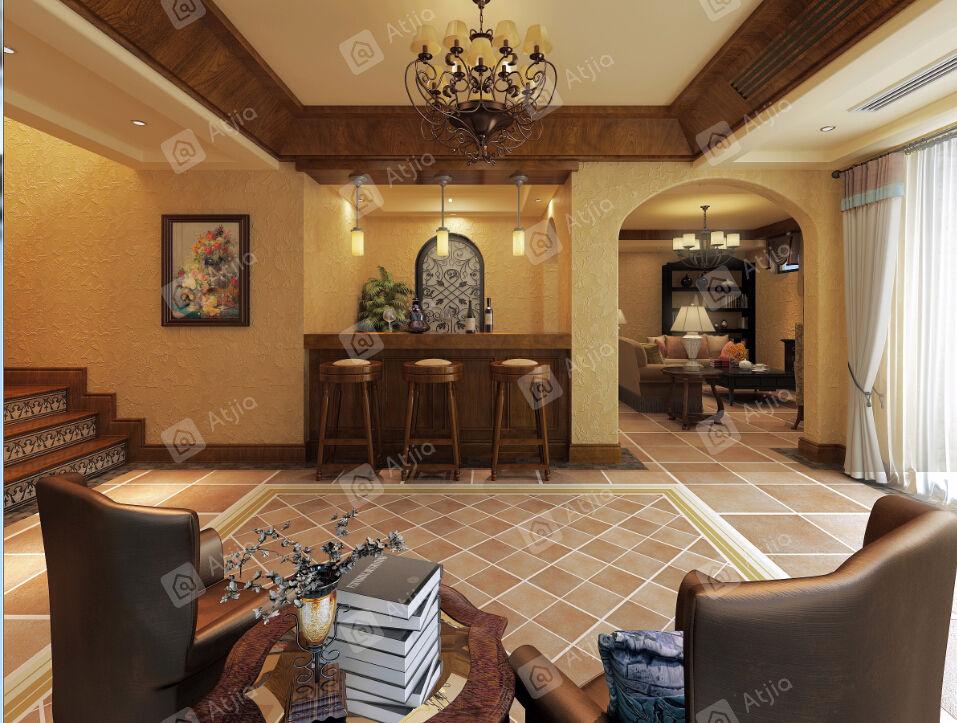 长泰西郊别墅 西班牙装修门厅效果图