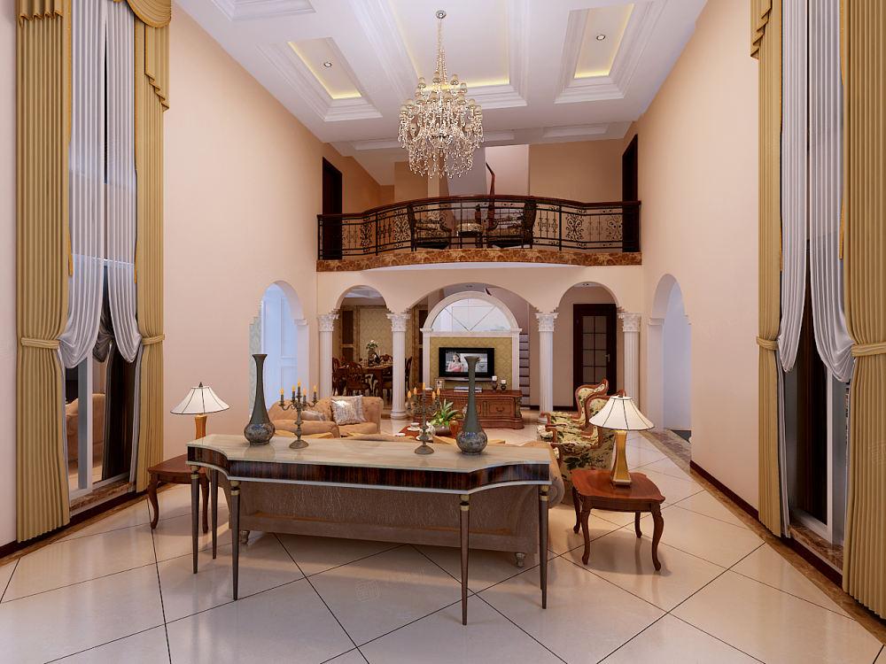 南郊中华园 欧式装修客厅效果图