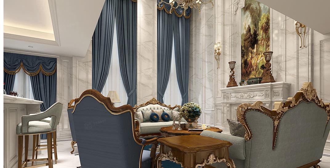 金大元御珑宫廷 简约欧式装修客厅效果图