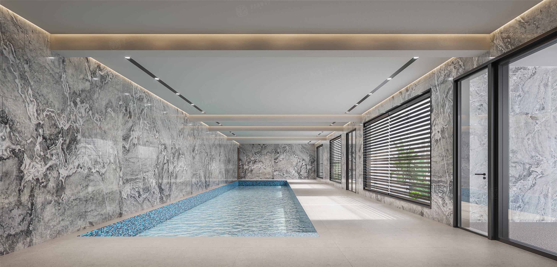 中星红庐   现代简约装修游泳池效果图