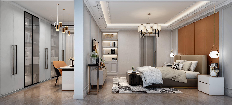 尚海郦景    美式 装修卧室效果图