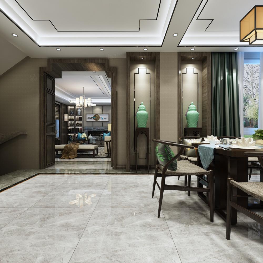 新中式风格-融公馆锦御名邸装修玄关效果图