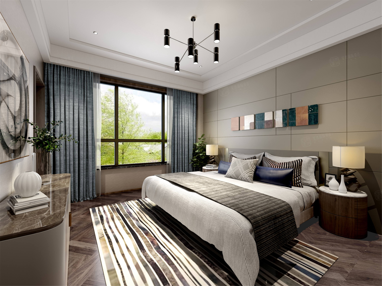 盐海琥珀湾  现代装修卧室效果图