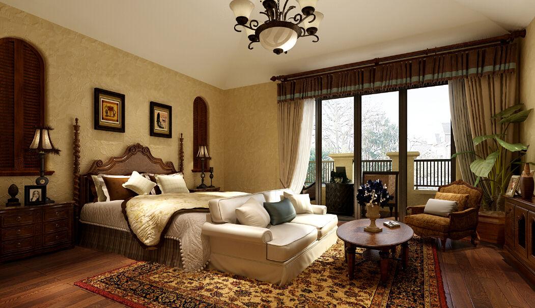 长泰西郊别墅 西班牙装修卧室效果图