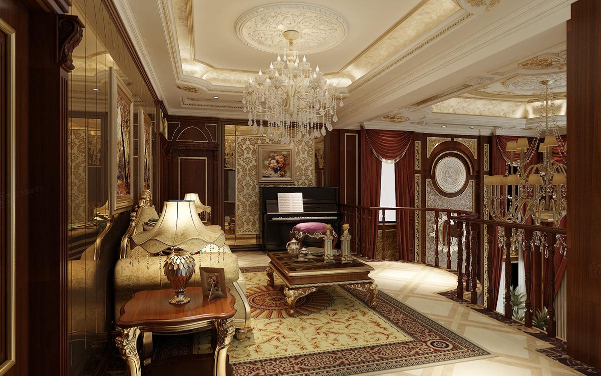 保利叶上海 欧式装修休闲厅效果图