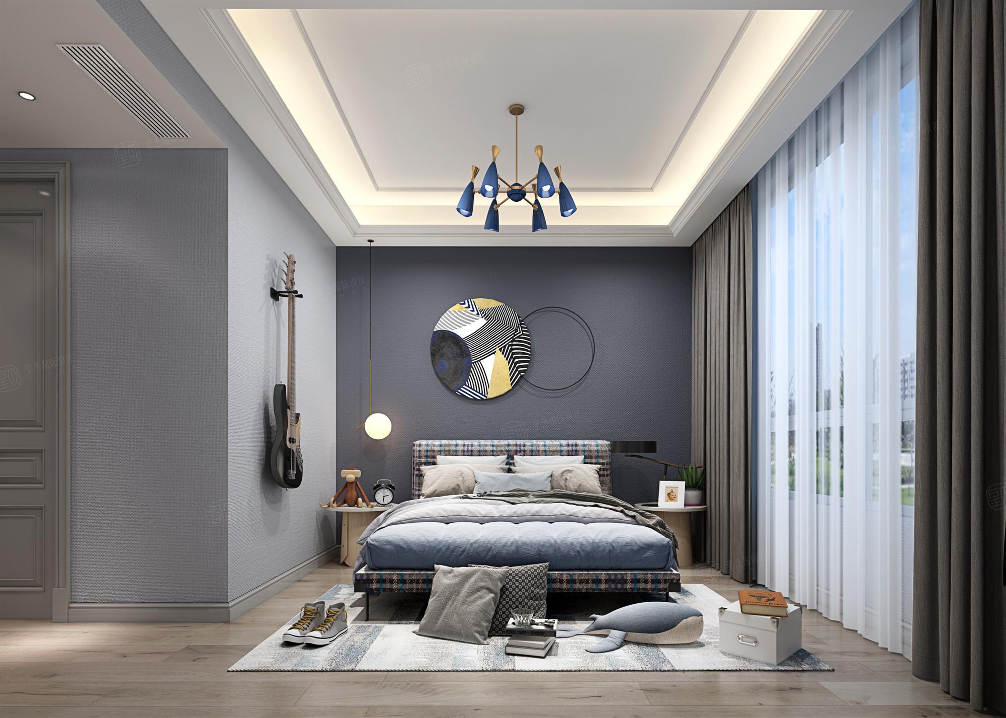 银河丽湾  现代装修卧室效果图