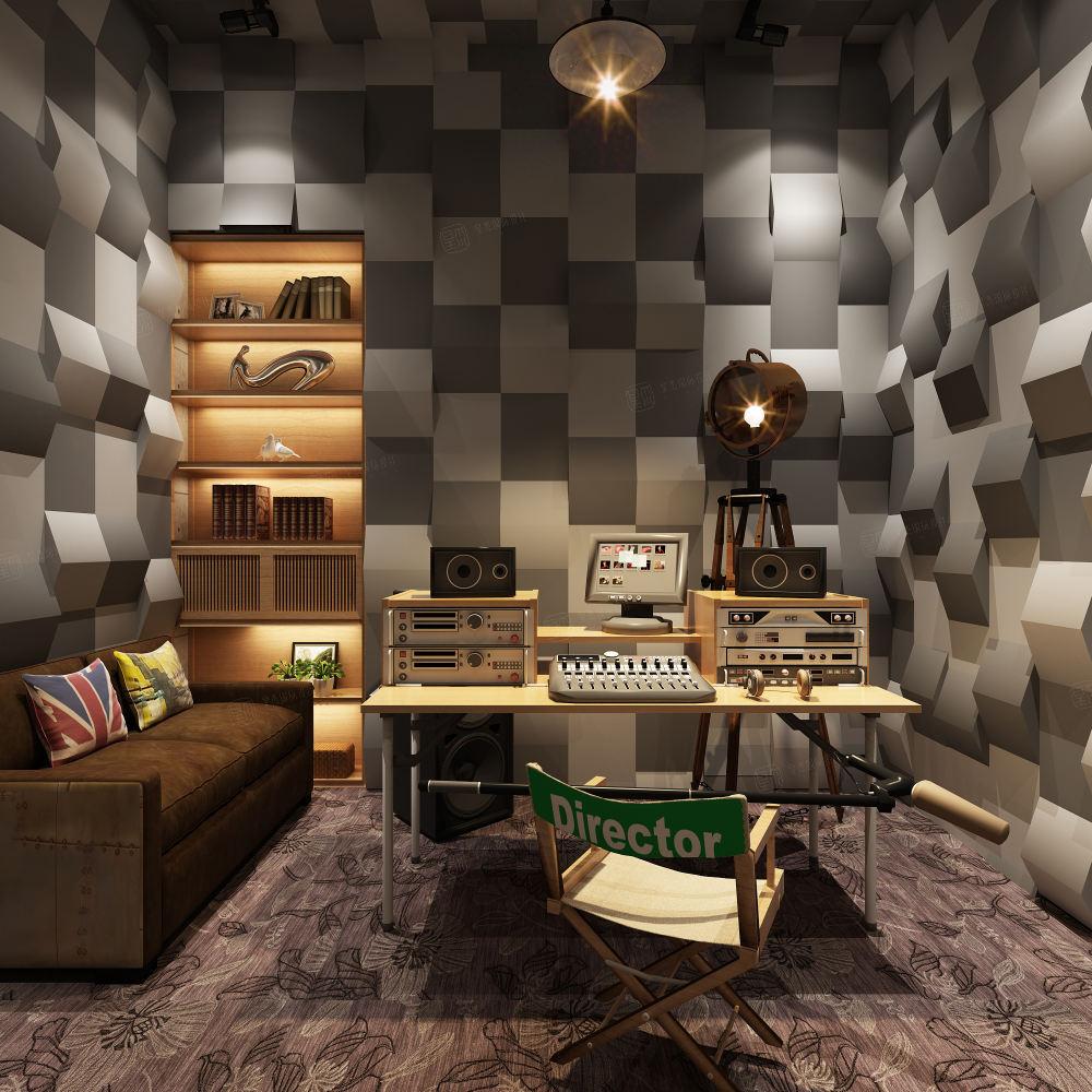 简美风格-依水和墅装修私人工作室效果图
