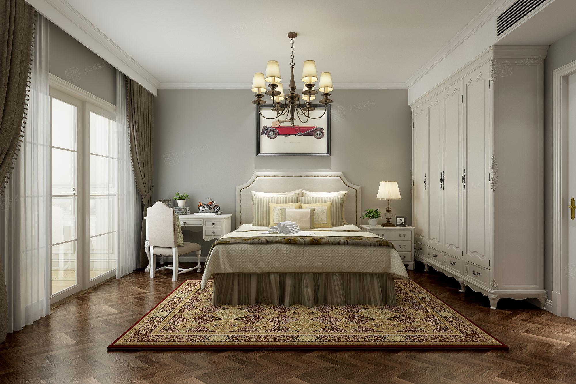 中金海棠湾 美式装修卧室效果图