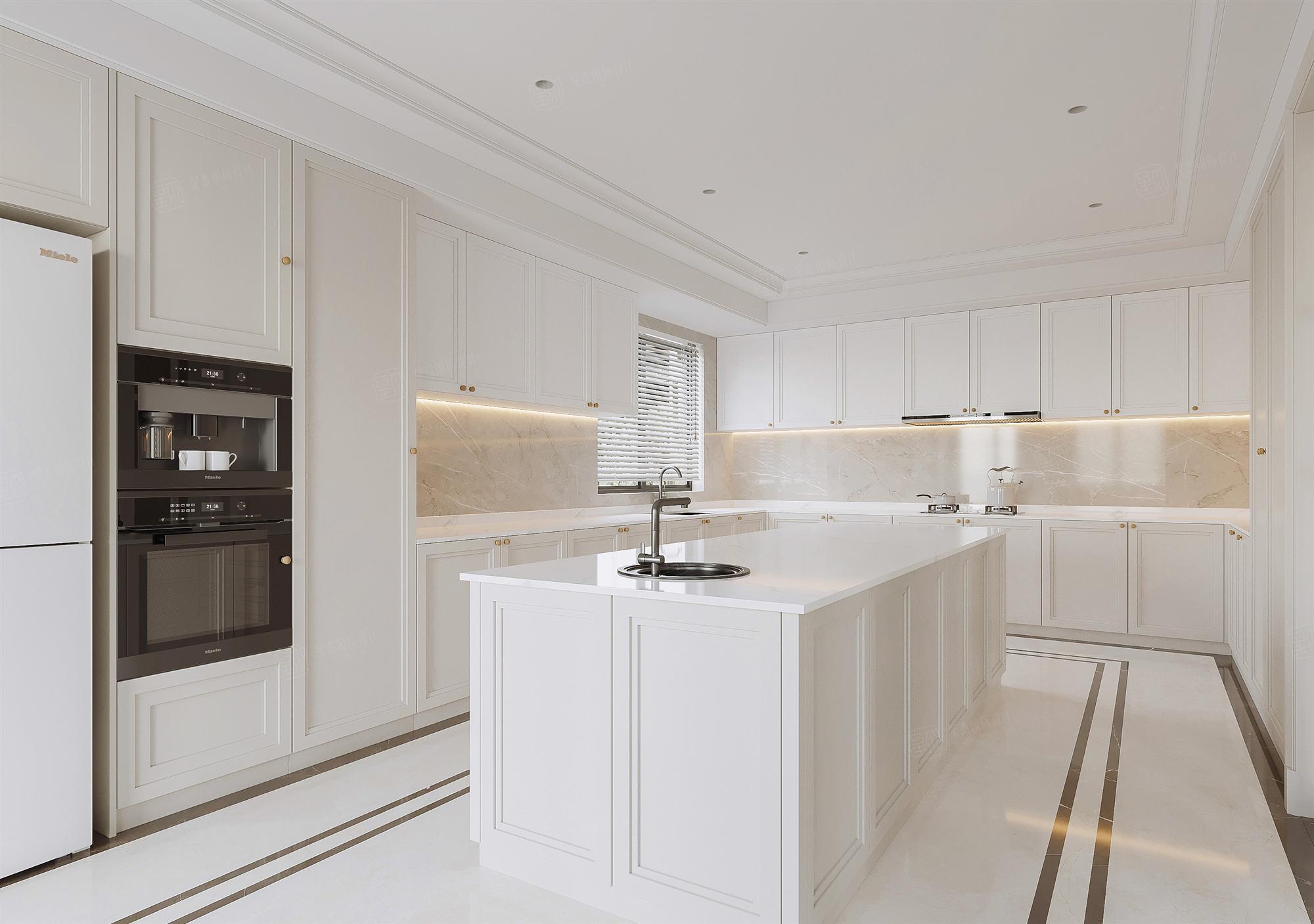 月光流域   新美式装修厨房效果图