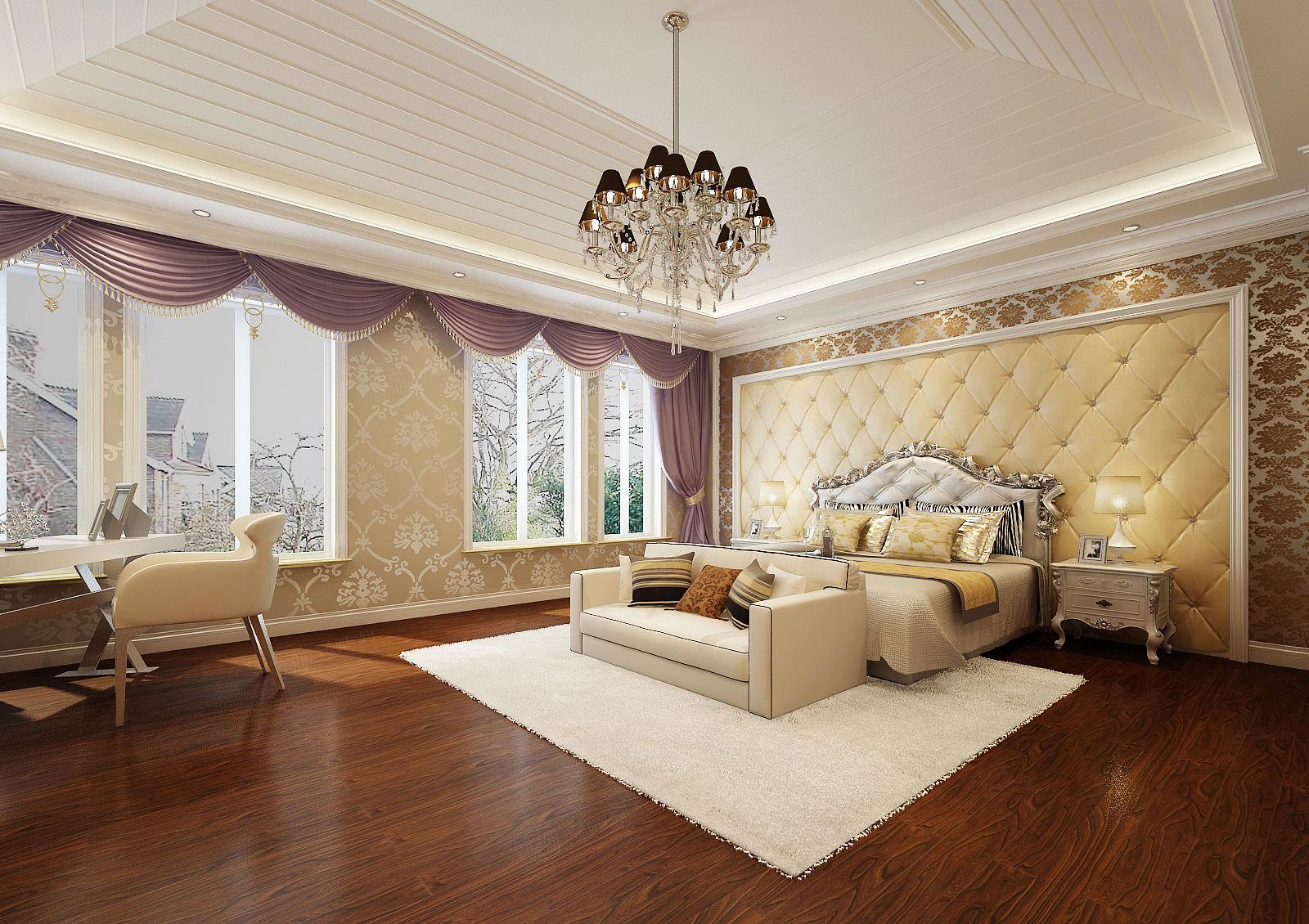维纳阳光 欧式装修卧室效果图