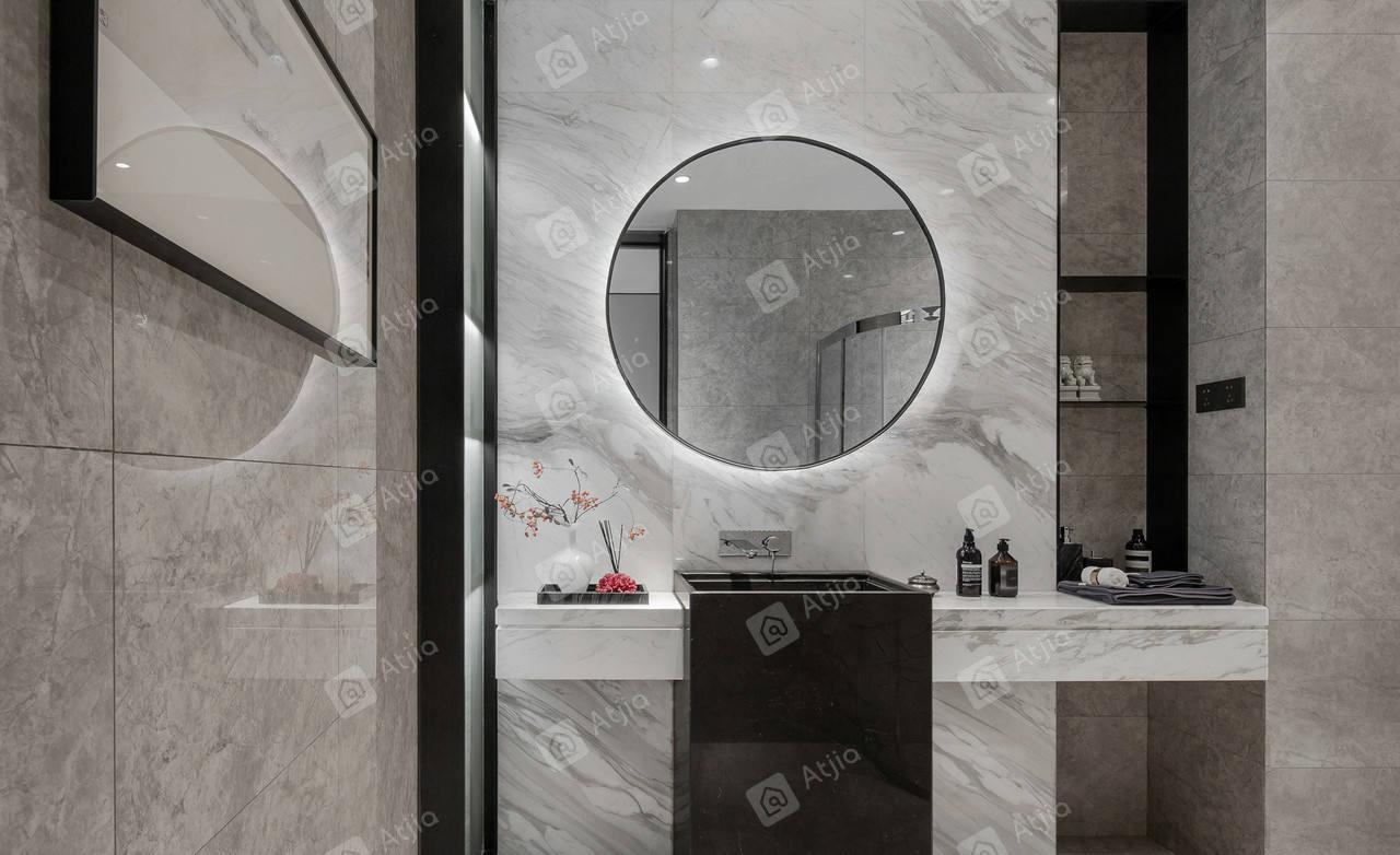 金水湾-现代简约装修卫生间效果图