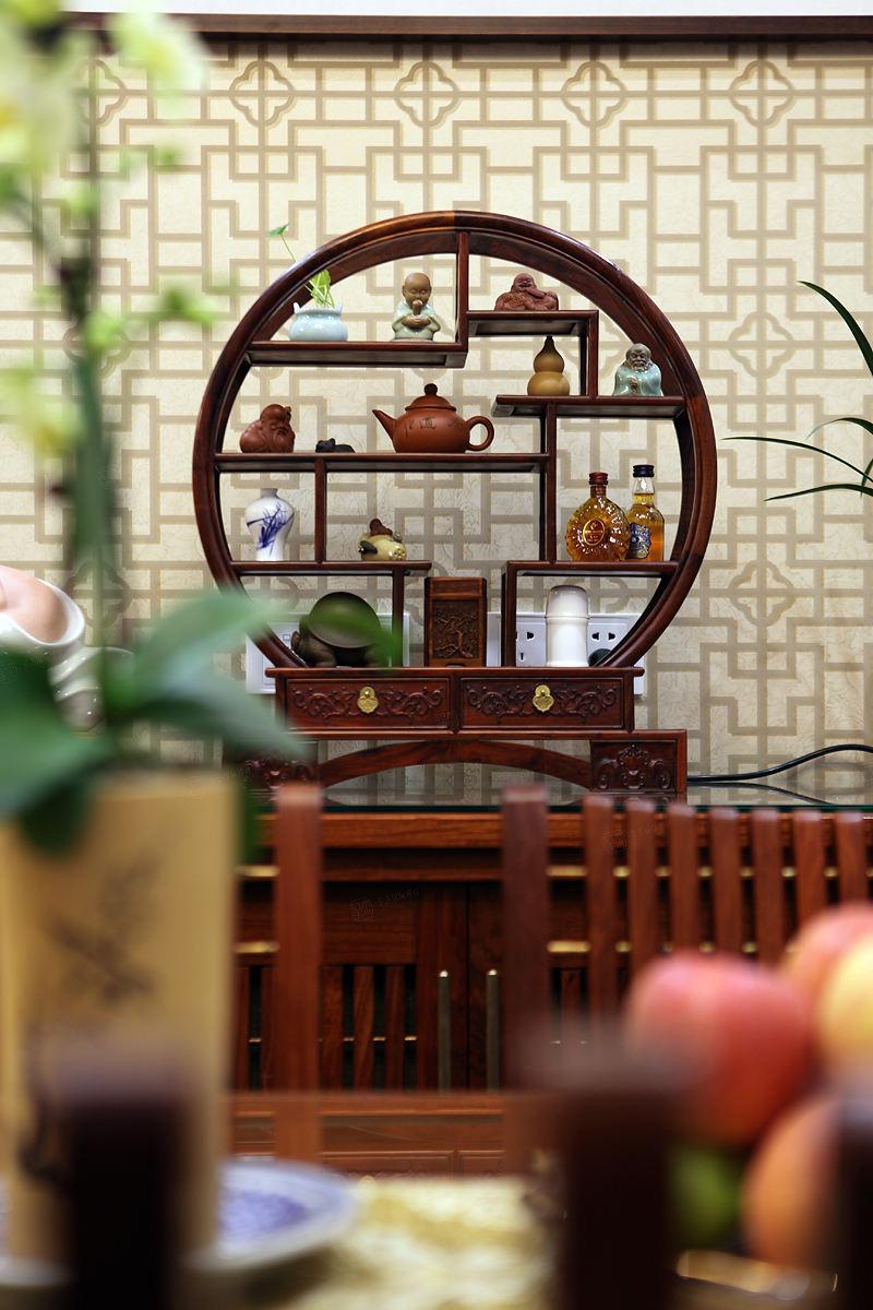 中景水岸 中式装修茶室效果图