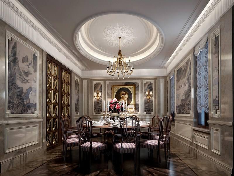 金都雅苑 新古典装修餐厅效果图