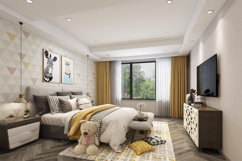 嘉年别墅  现代装修卧室效果图