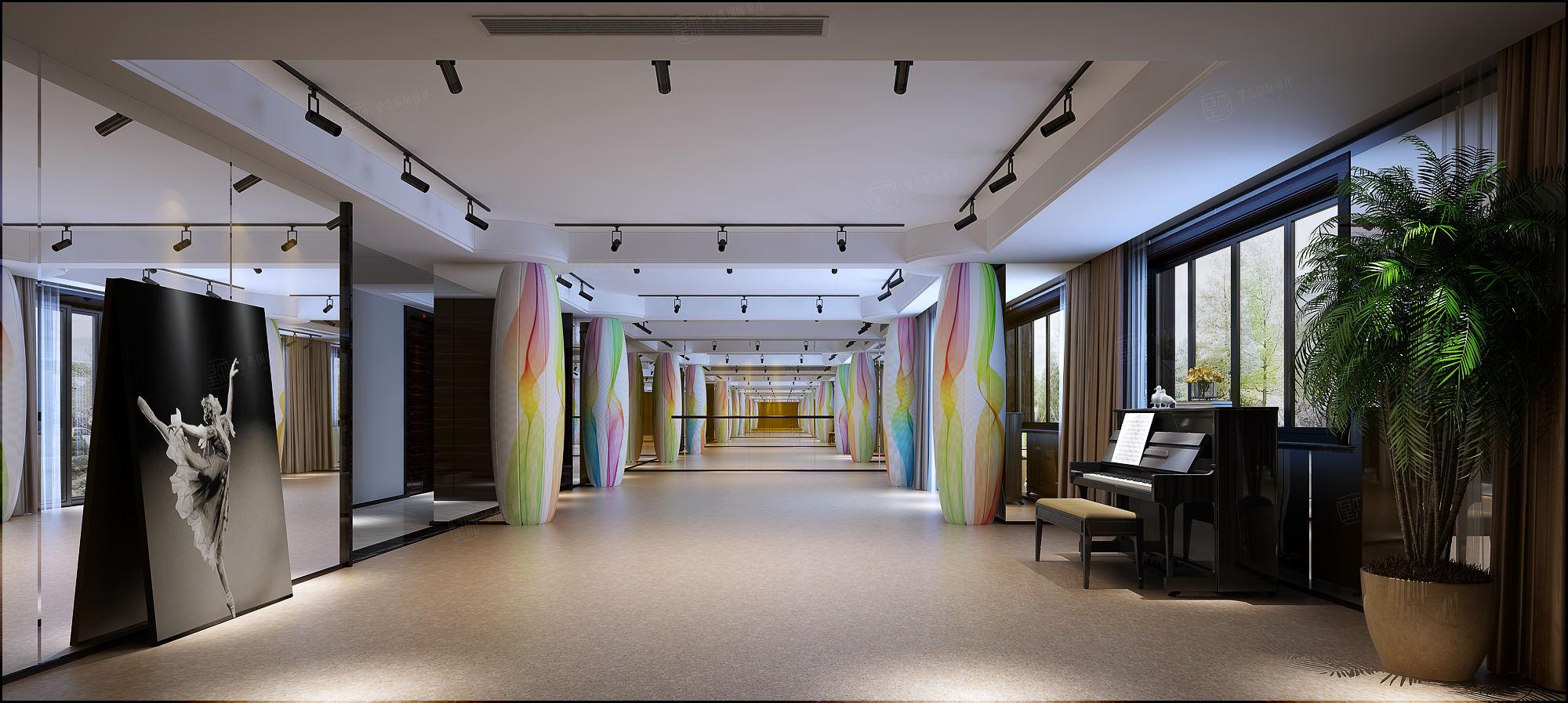 复地北桥城  现代轻奢装修地下室效果图