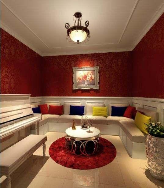 御沁园 美式装修休闲厅效果图