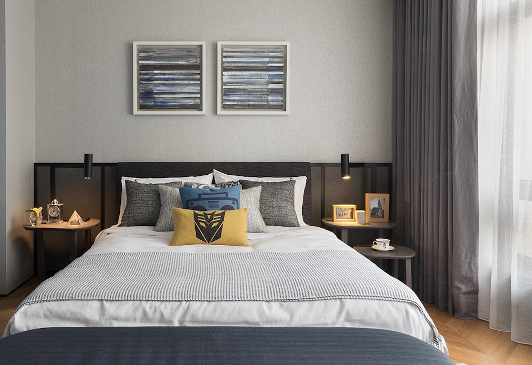 尚海郦景-现代轻奢装修卧室效果图