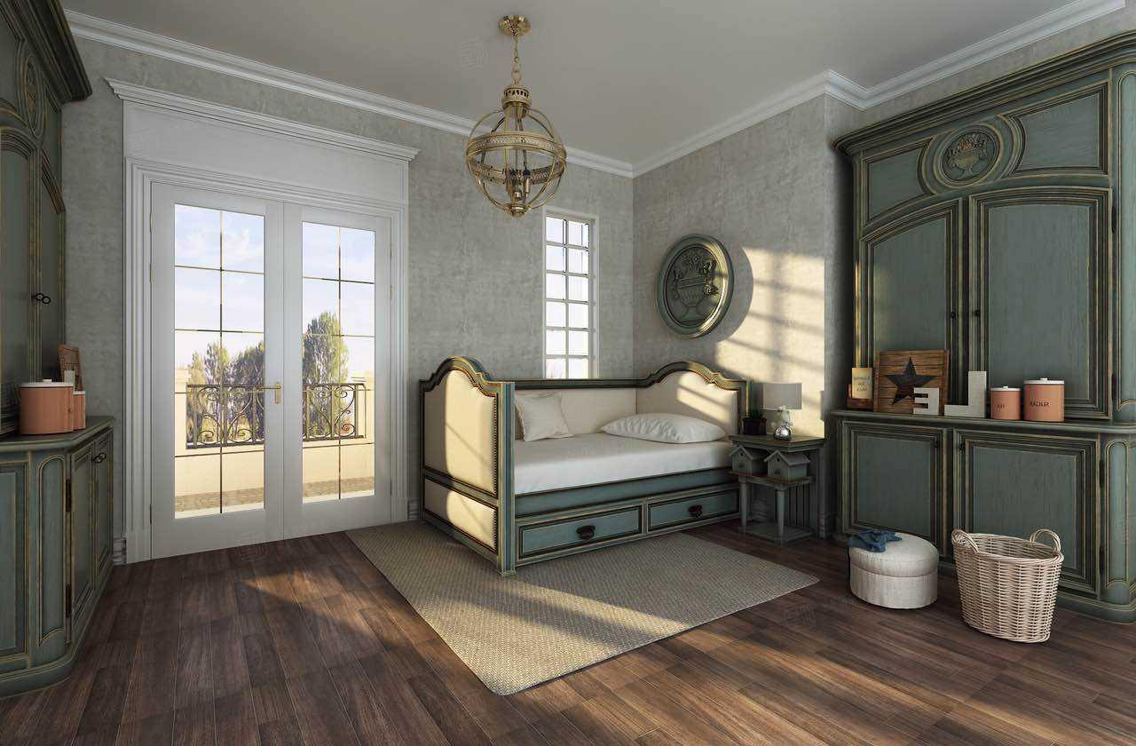 绿城玫瑰园 欧式装修起居室效果图
