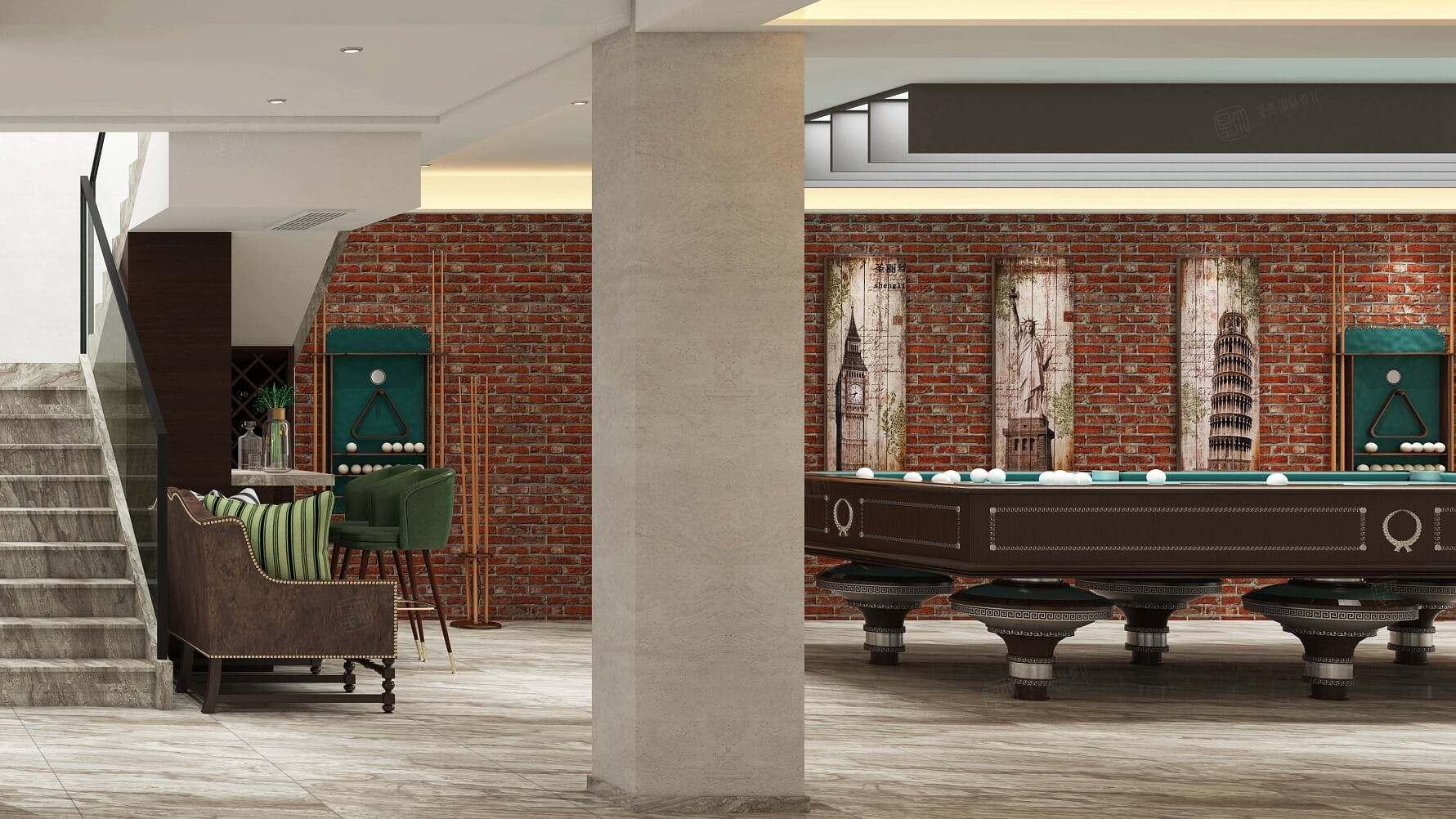 四季御庭 现代简约装修地下室效果图