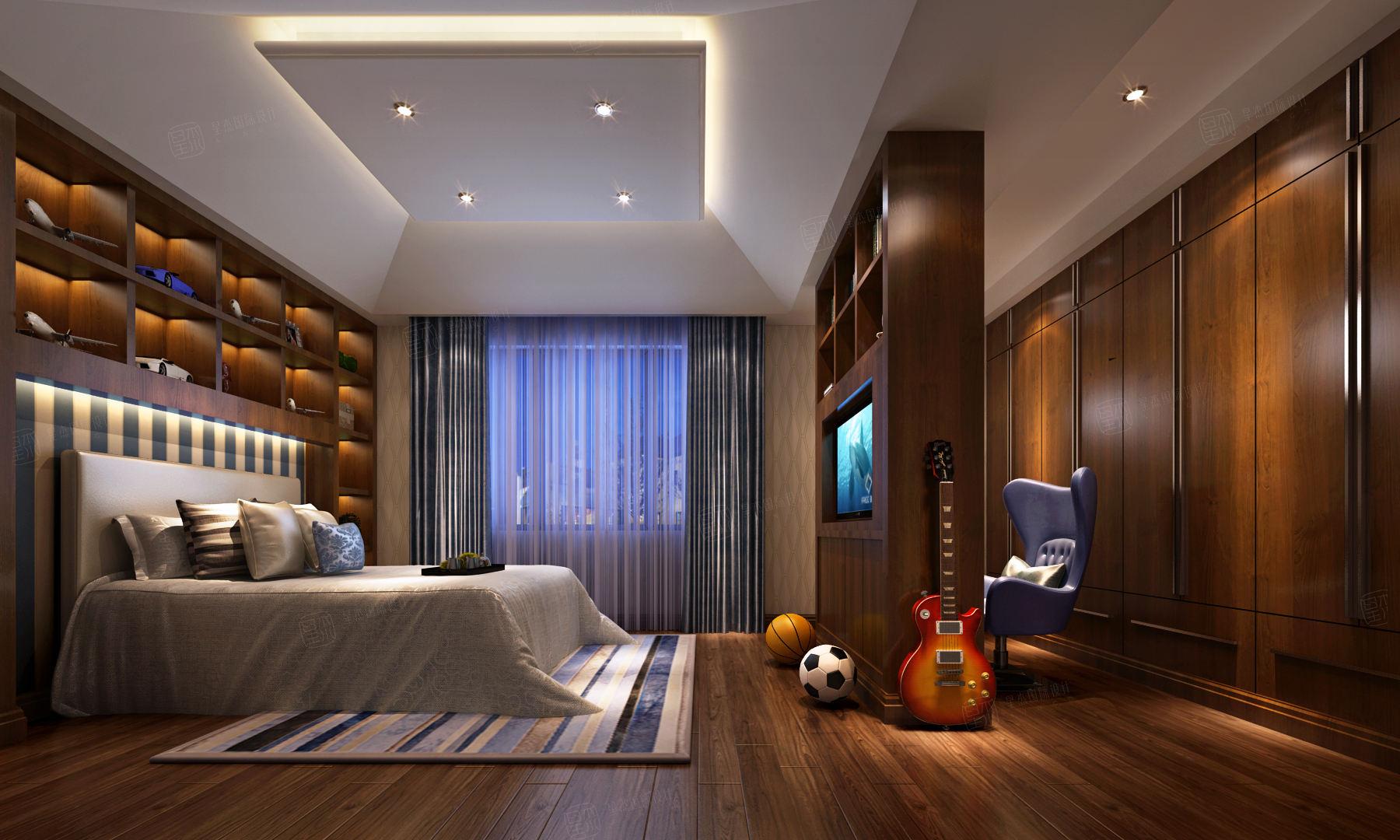 东方夏威夷 新中式装修卧室效果图