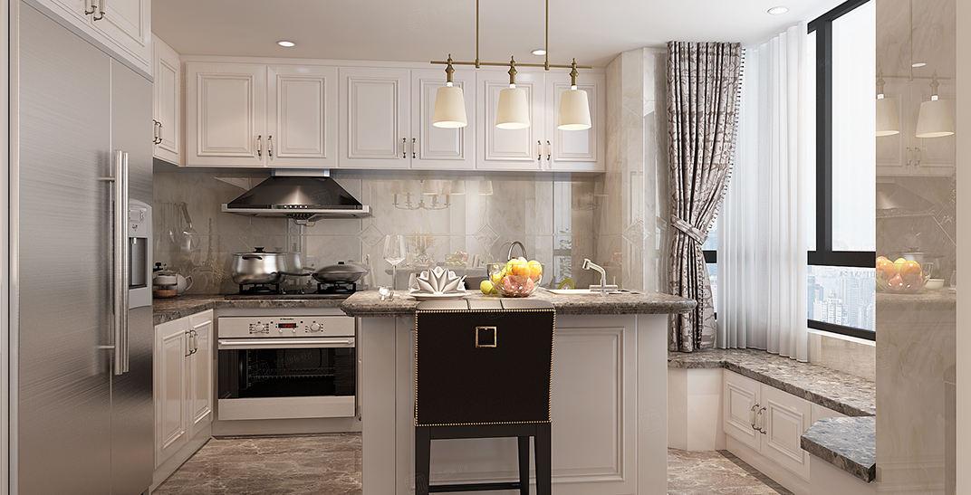 紫荆园   英式装修厨房效果图