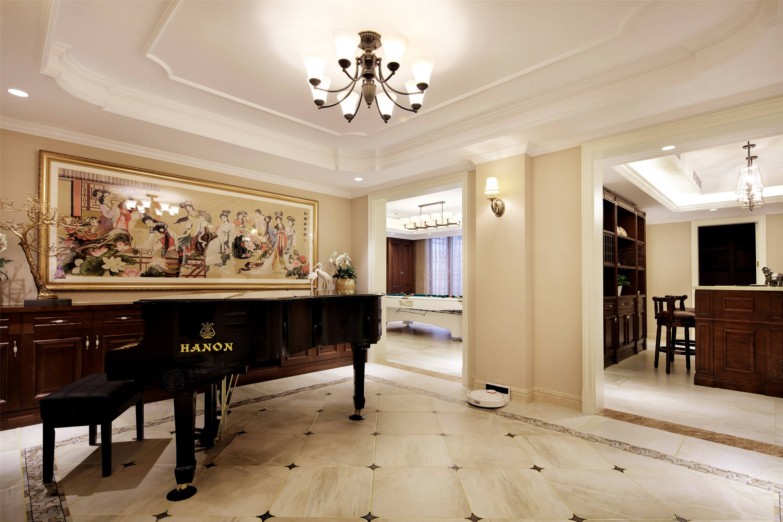 上实和墅   美式装修琴房效果图