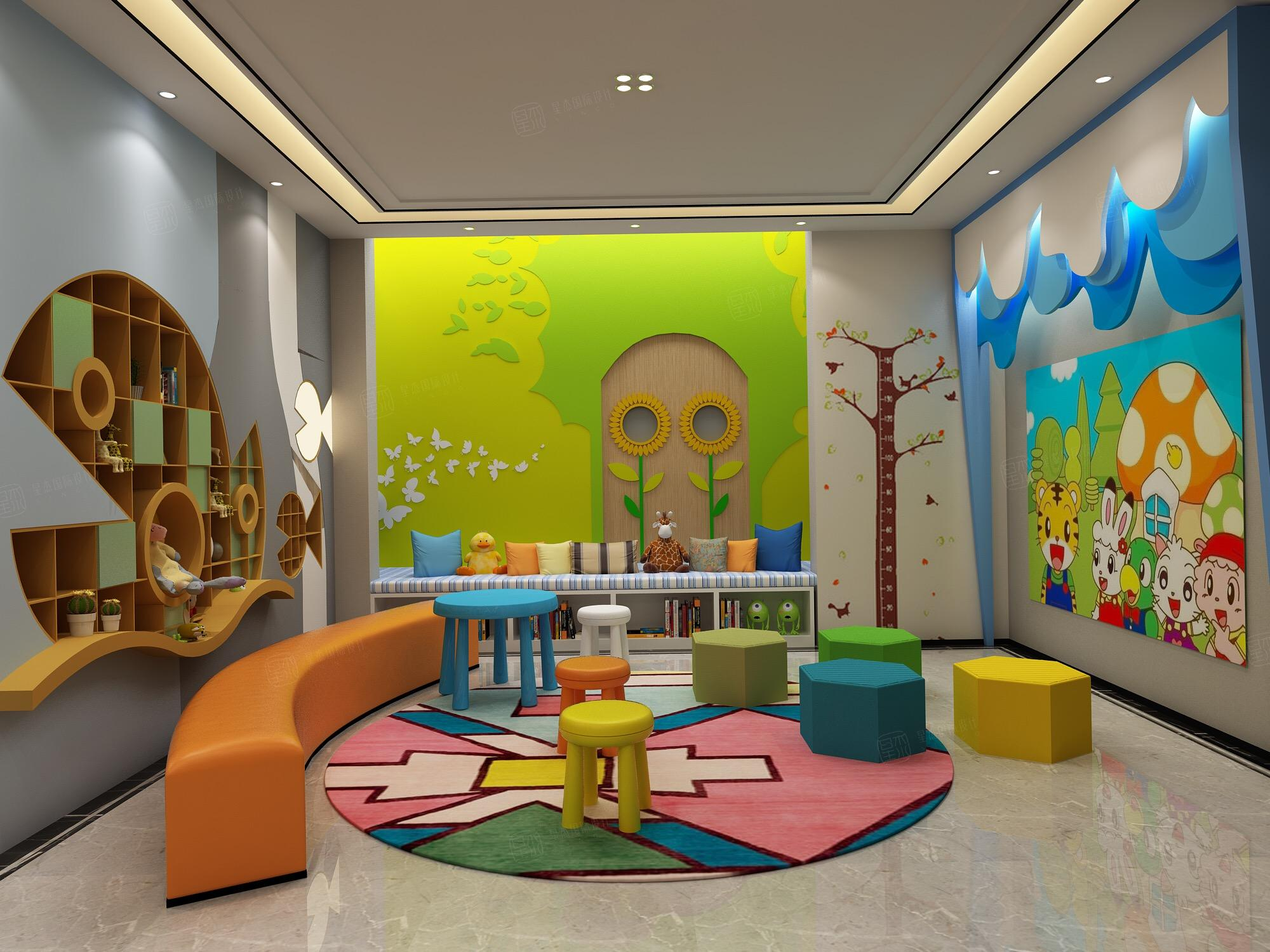 新中式风格-复地温莎堡装修儿童游乐区效果图