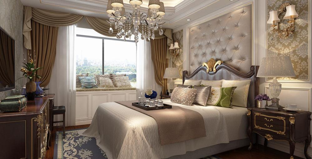 湖畔天下   欧式装修卧室效果图