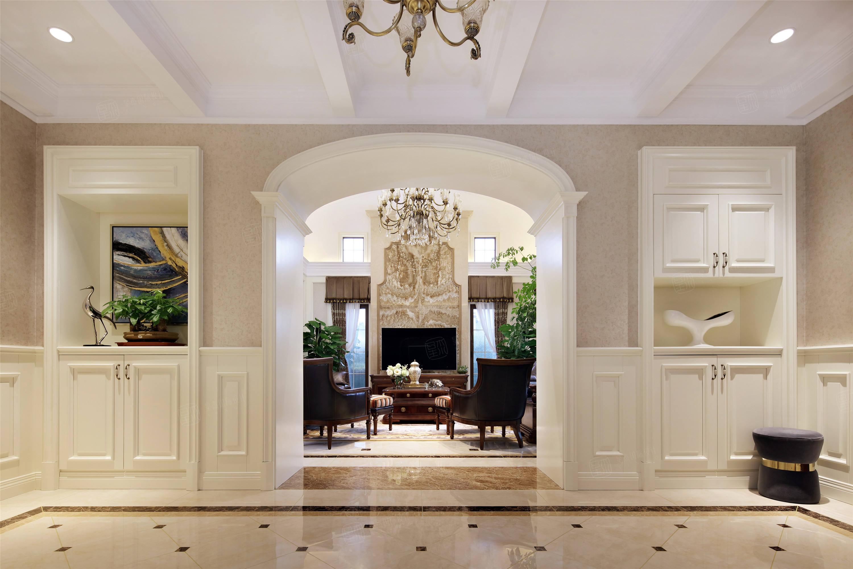 上实和墅   美式装修客厅效果图