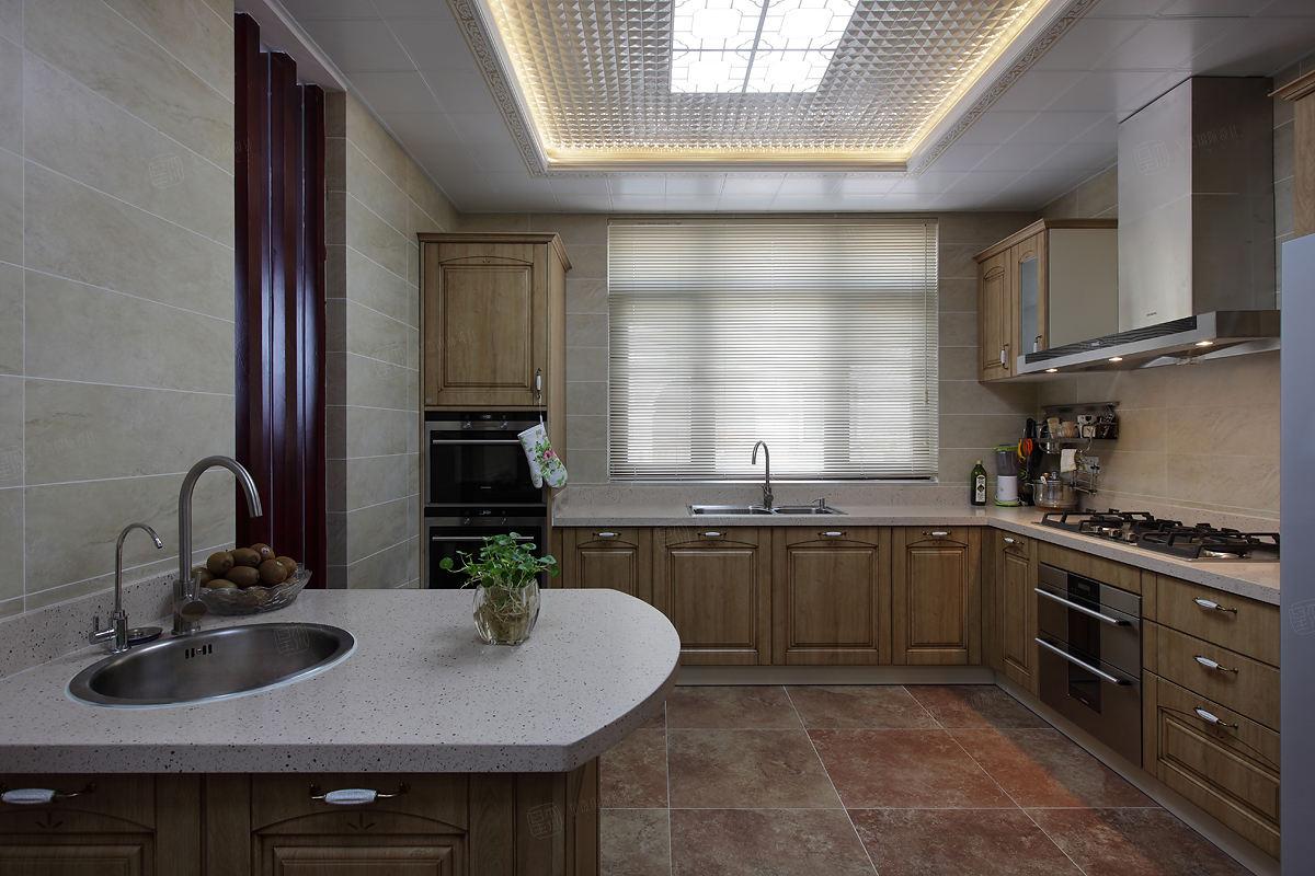 中景水岸 中式装修厨房效果图
