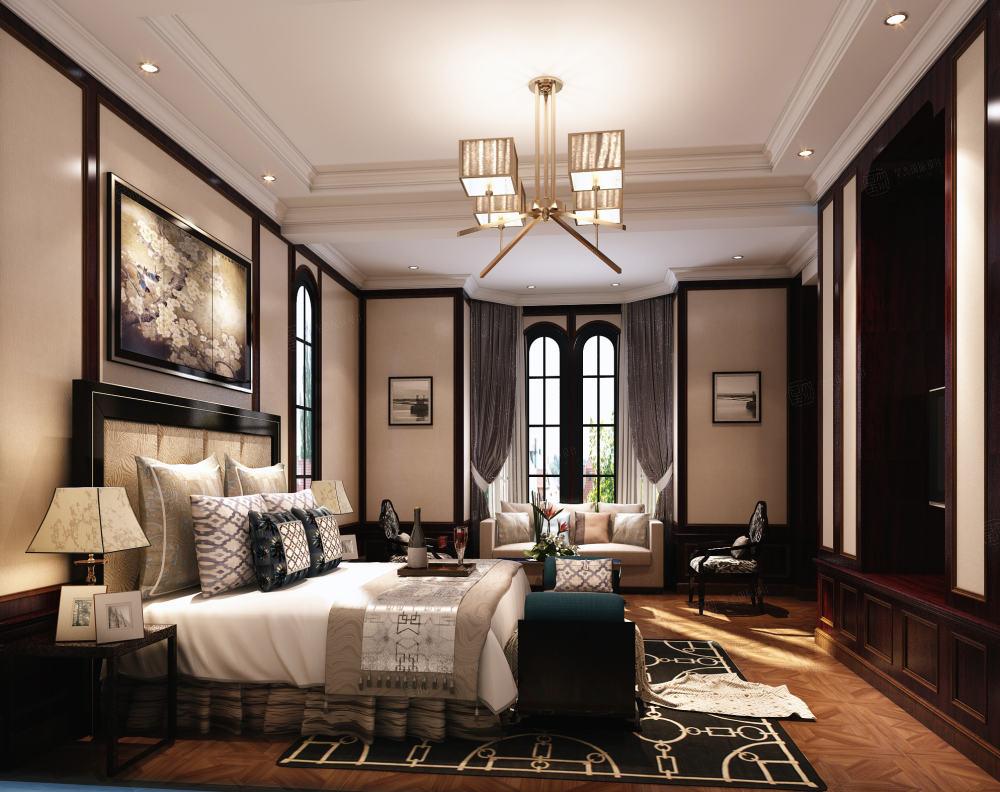 绍兴绿城玉园 后现代装修卧室效果图