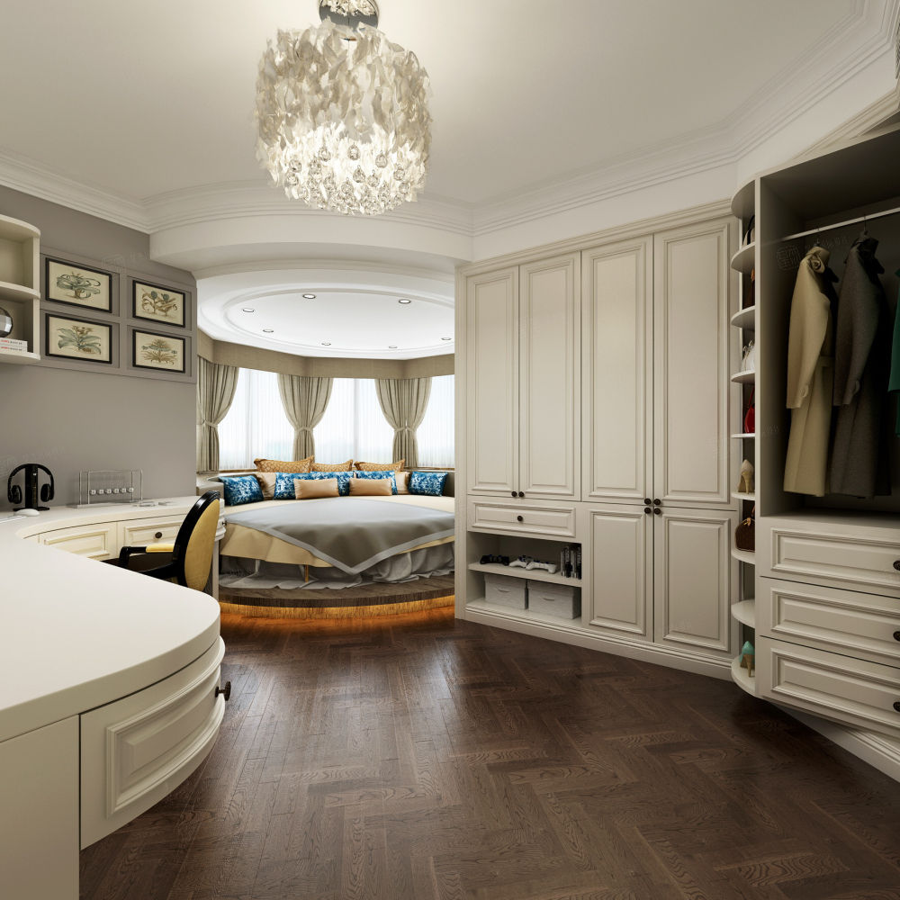 华都公寓 美式装修卧室效果图