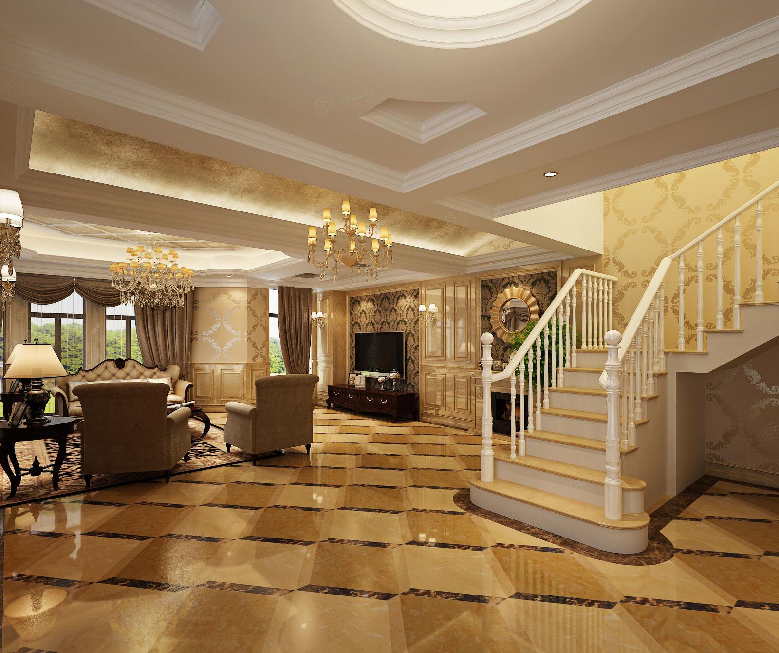 维纳阳光 欧式装修客厅效果图