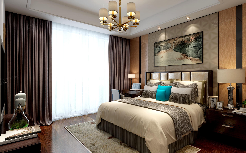 宝龙城 现代简约装修卧室效果图