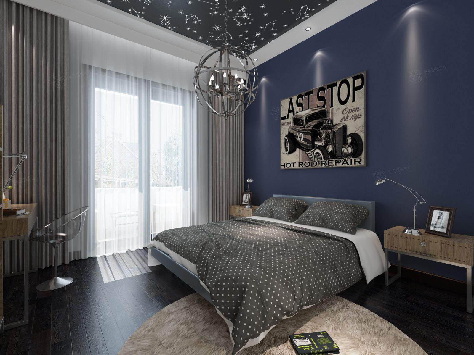中建大公馆 现代简约装修卧室效果图