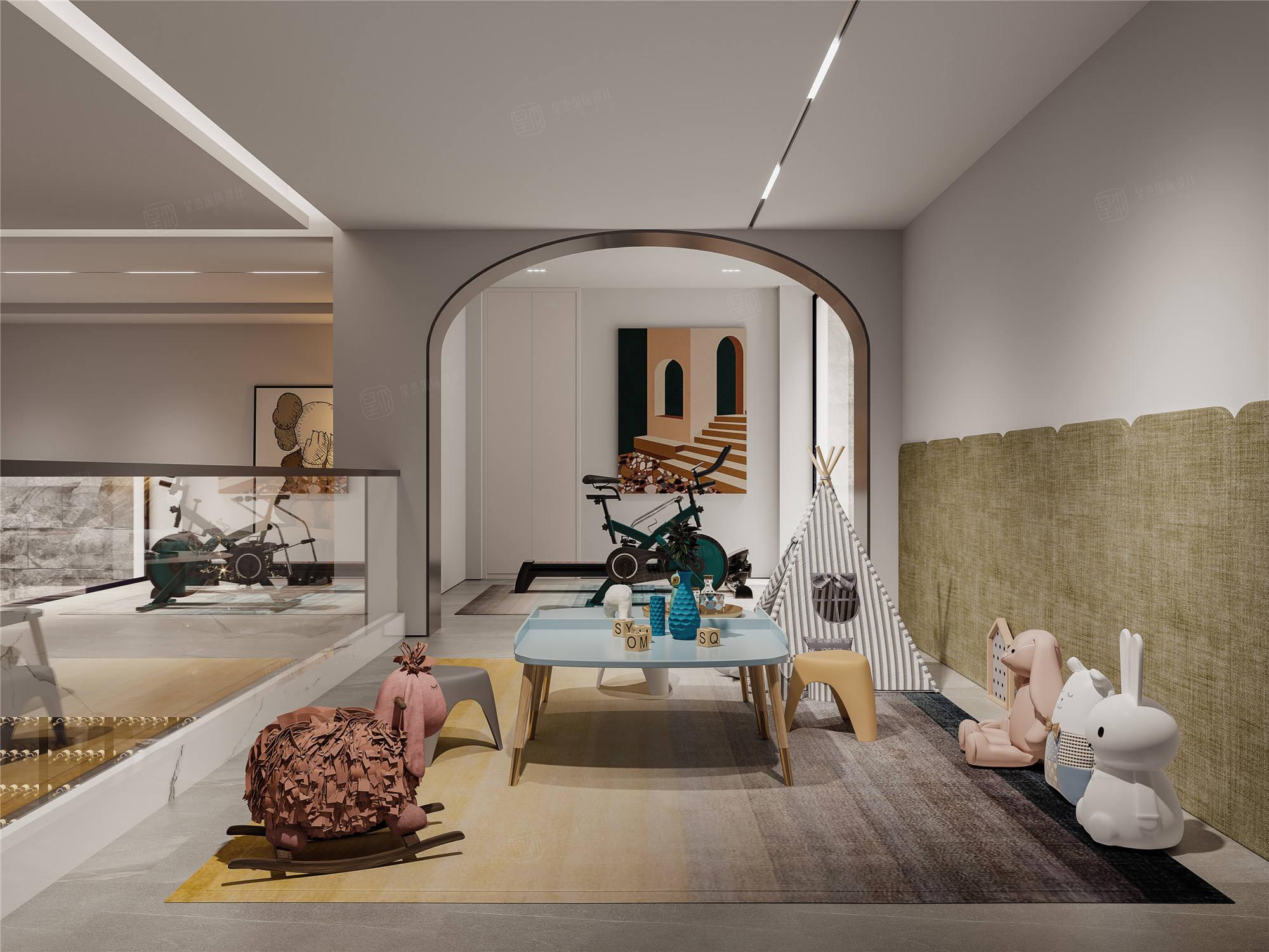 上海桃花源   现代风格装修休闲厅效果图