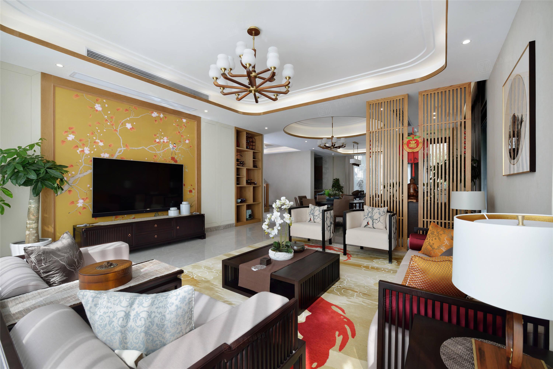 三湘森林海尚   新中式装修客厅效果图