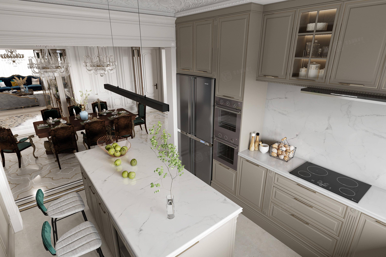 宛平88   简约法式装修厨房效果图