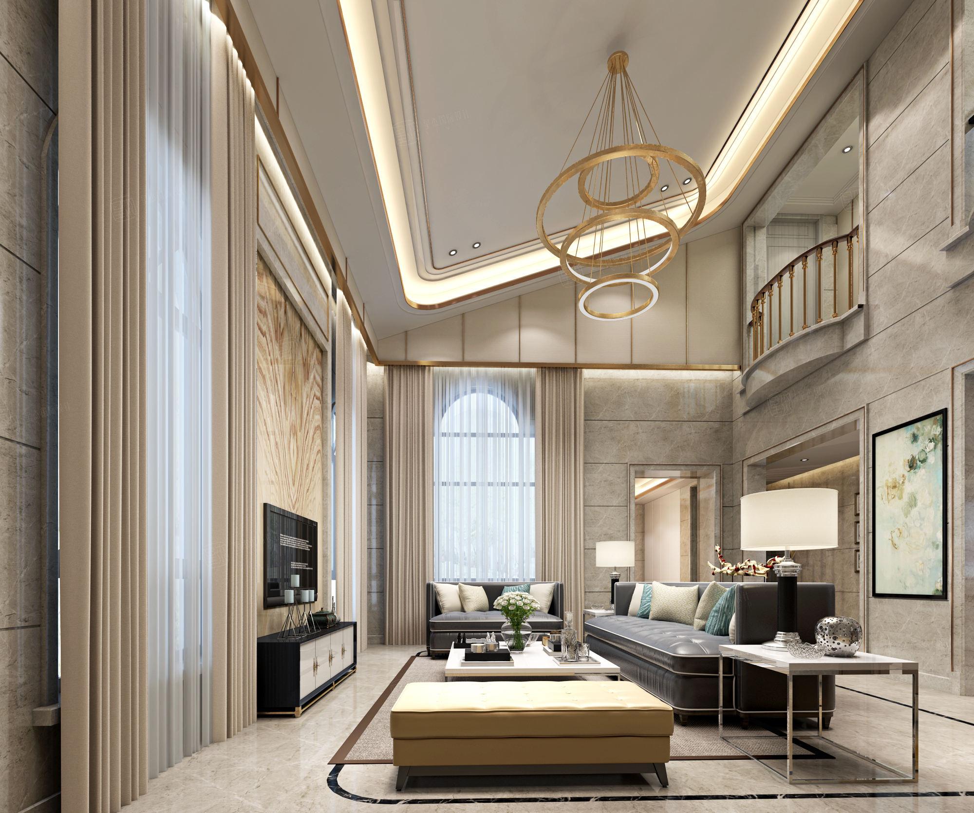 御翠园 现代风格装修客厅效果图