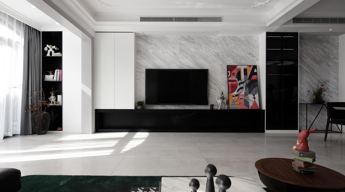 浪漫法式 绿地晶萃装修客厅效果图