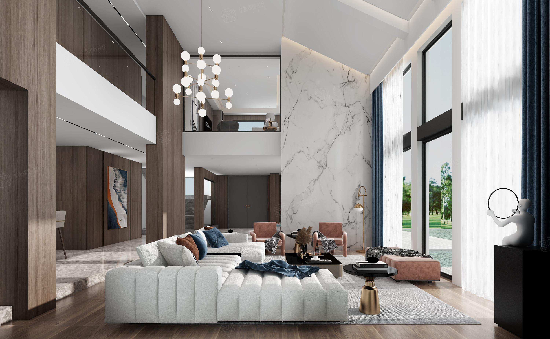 绿洲比华利  现代简约装修客厅效果图