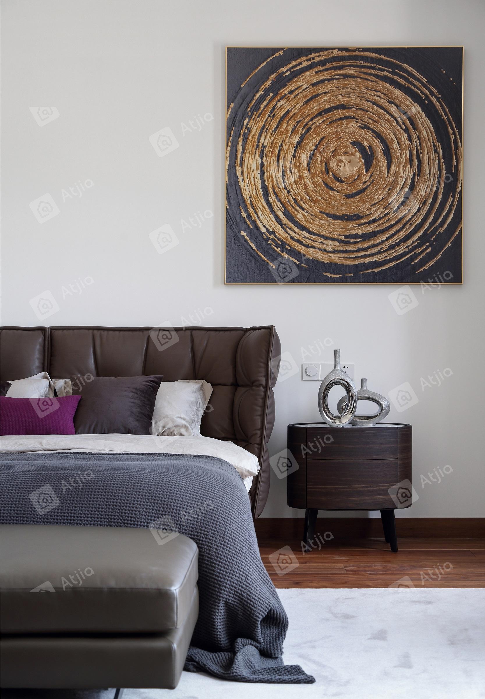 国宾一号——现代极简装修床效果图