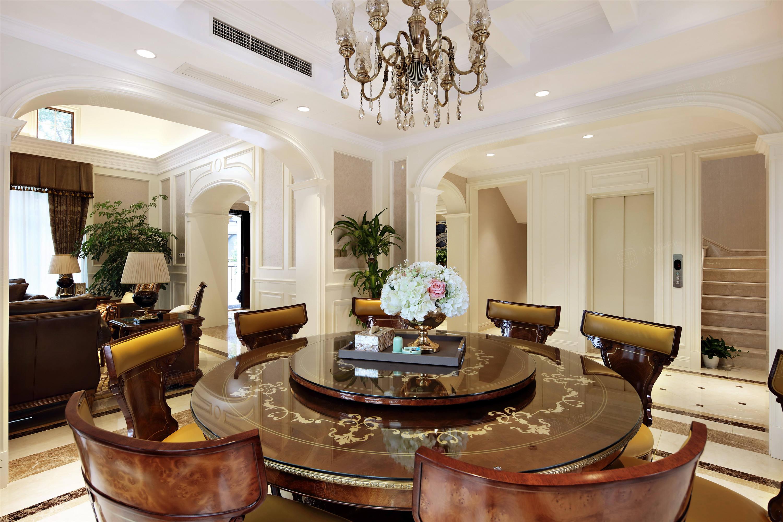 上实和墅   美式装修餐厅效果图