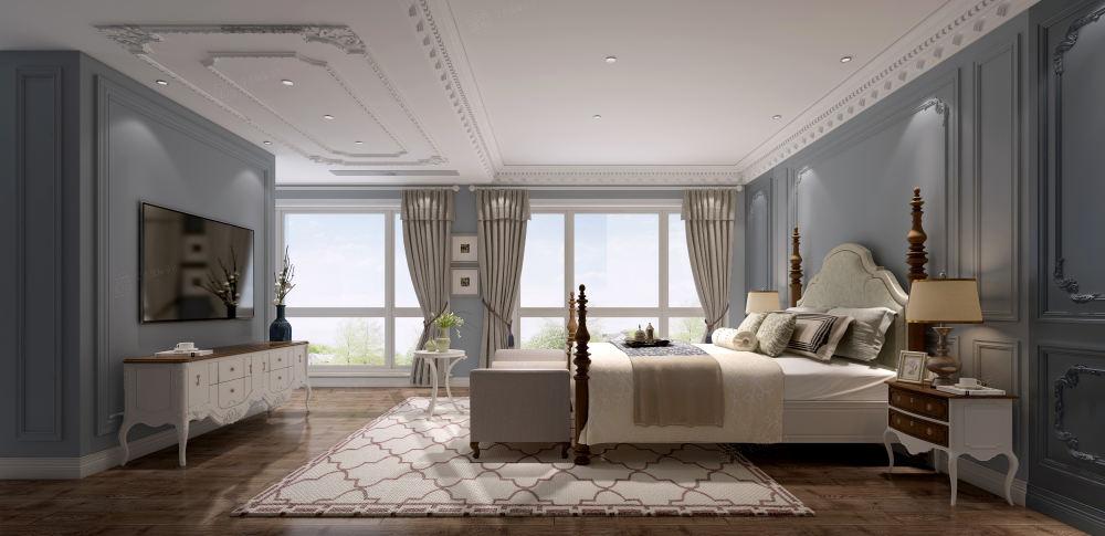 太湖之星_质朴典雅的气氛装修卧室效果图