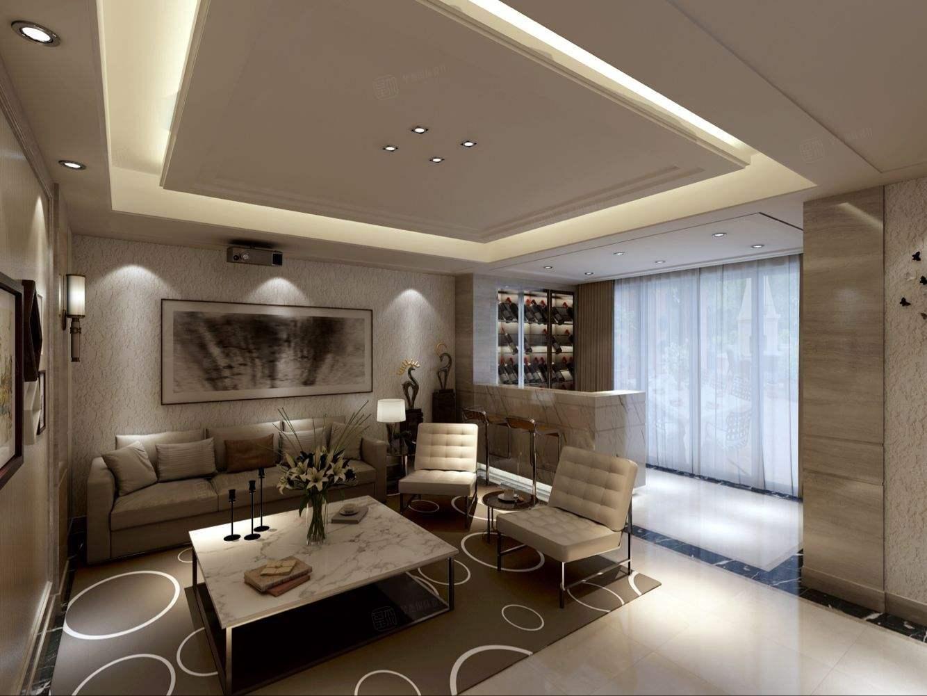 丽都华庭 现代时尚装修起居室效果图