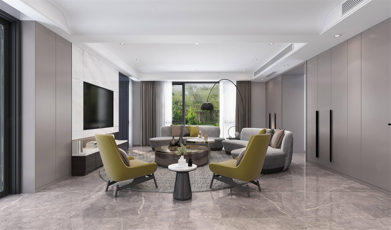 嘉年别墅  现代装修客厅效果图